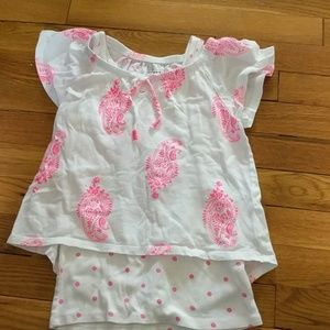 **3 for $10** Old Navy white and pink top